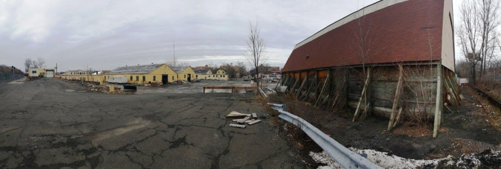 3. Panoramic Red Bldg to the right